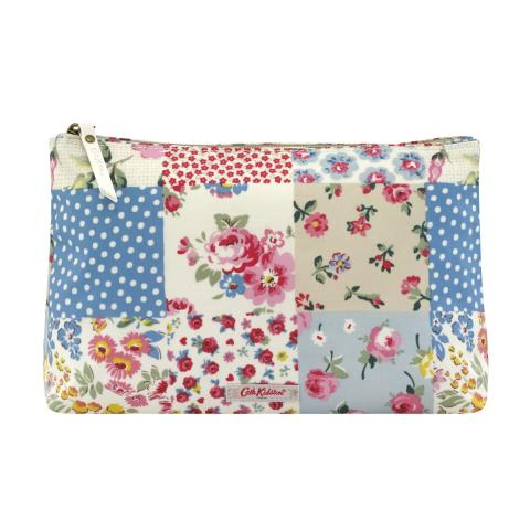 COSMETIC BAG COTTAGE PATCHWORK