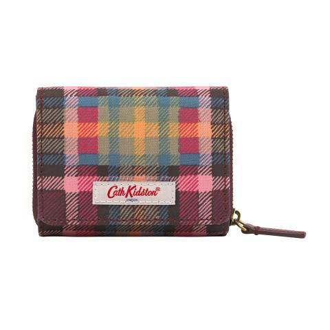 COMPACT WALLET CLARENDON CHECK P