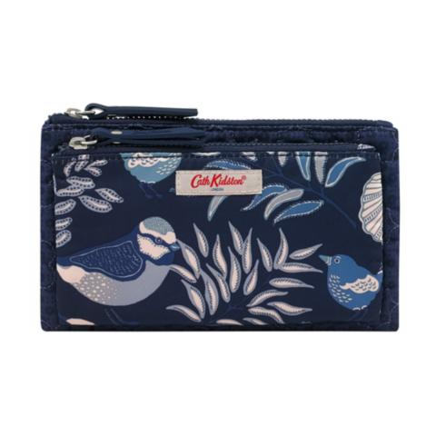 DOUBLE POUCH FRESTON ROSE QUILT NAVY