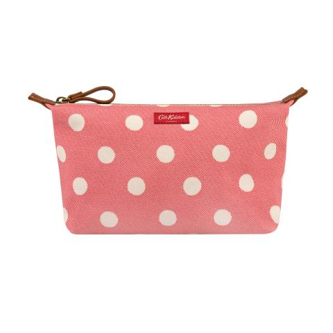 B POUCH BUTTON SPOT TWILL RED