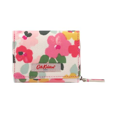 S FOLDOVER WALLET LARGE PAINTED PANSIES