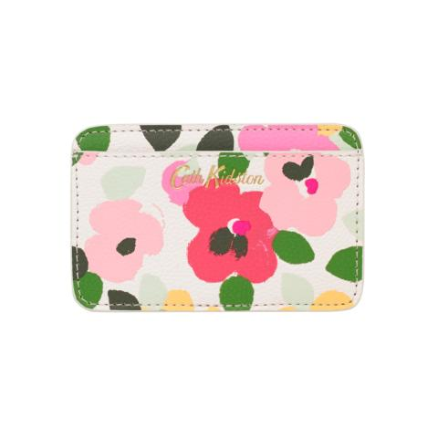CARD HOLDER LARGE PAINTED PANSIES