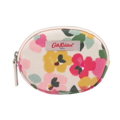 COIN PURSE LARGE PAINTED PANSIES
