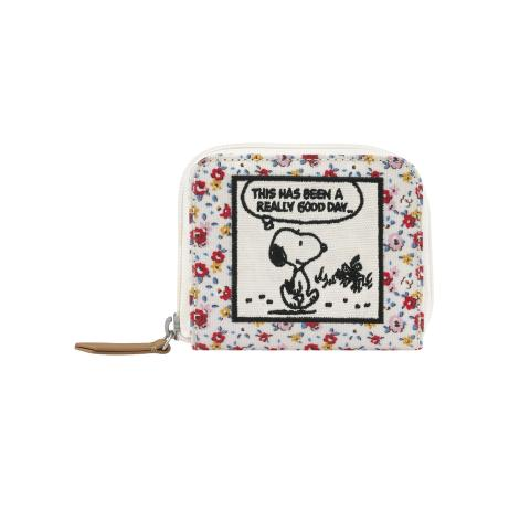 COMPACT CONTINENTAL WALLET SNOOPY TINY ROSE