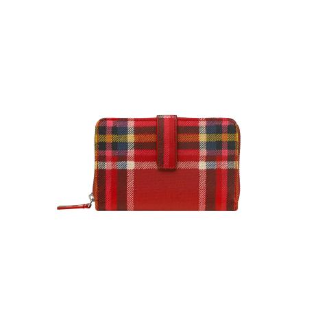 Folded Zip Wallet Check Small
