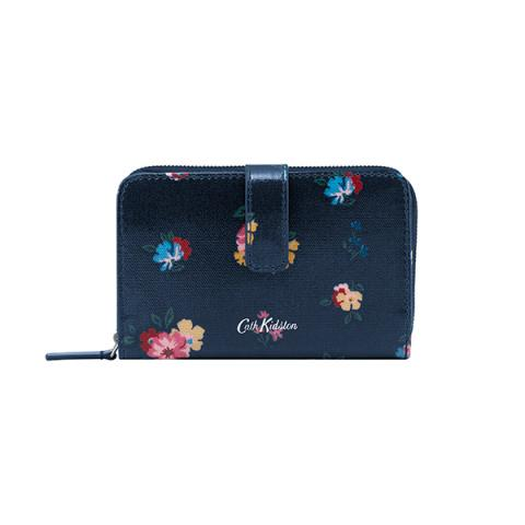 FOLDED ZIP WALLET PARK MEADOW NAVY