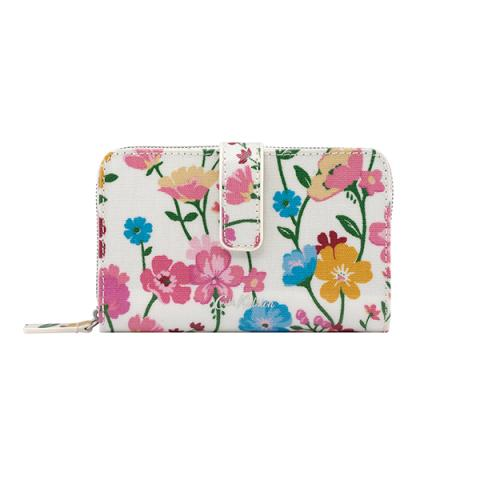 FOLDED ZIP WALLET PARK MEADOW CREAM