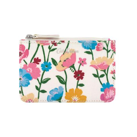 SMALL CARD & COIN PURSE PARK MEADOW CREAM