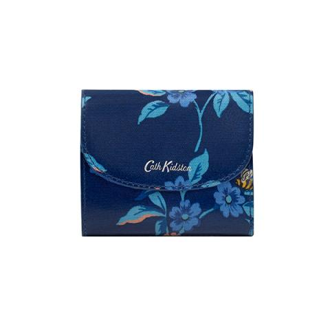 SMALL FOLDOVER WALLET GREENWICH FLOWERS