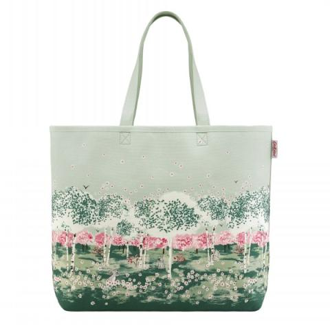 LARGE CANVAS TOTE BIRCH FOREST