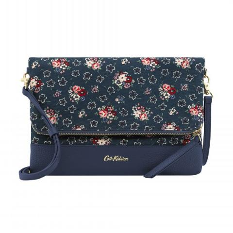 LEATHER FOLDOVER CLUTCH LUCKY BUNCH