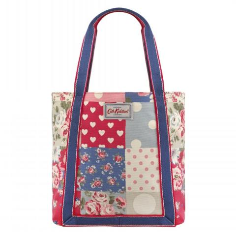 MINI REVERSE COATED TOTE PATCHWORK