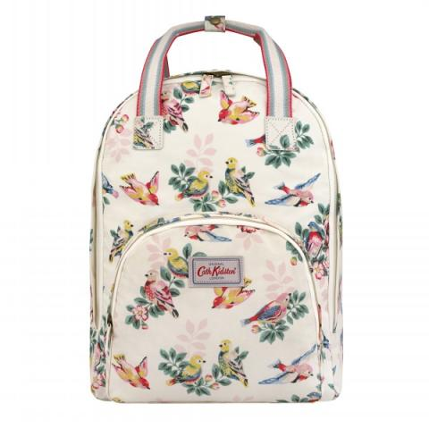 MULTI POCKET BACKPACK SPRING BIRDS