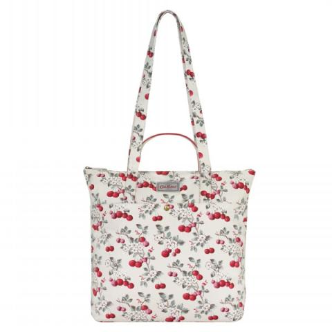 DOUBLE HANDLE COTTON TOTE CHERRY SPRIG
