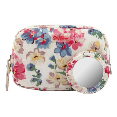 MAKE UP CASE WOODSTOCK FLOWERS OFF WHITE