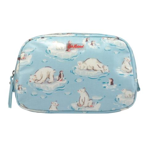 COSMETIC BAG SMALL POLAR BEAR ICE BLUE
