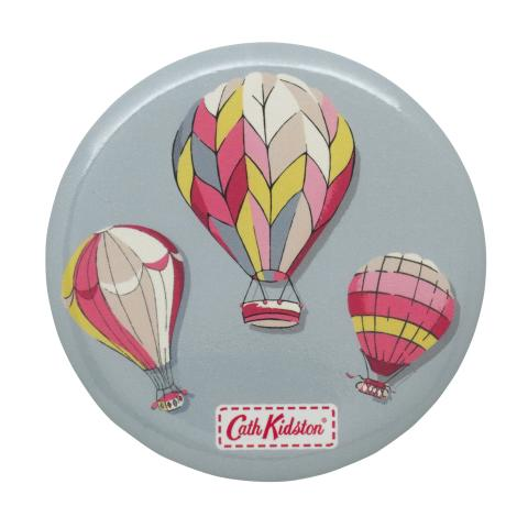 POCKET MIRROR HOT AIR BALLOONS DUSTY BLUE