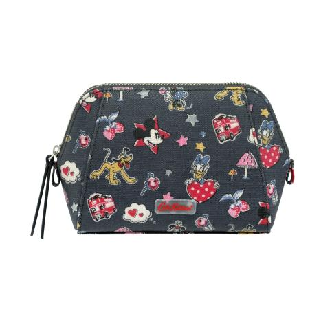 Disney Smart Make Up Bag Mickey & Minnie Little Patches Slate Grey