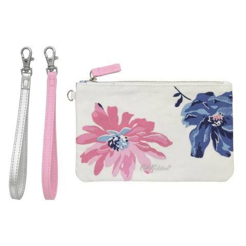 DOUBLE STRAP ZIP POUCH TRESCO BLOOM STONE BLUE