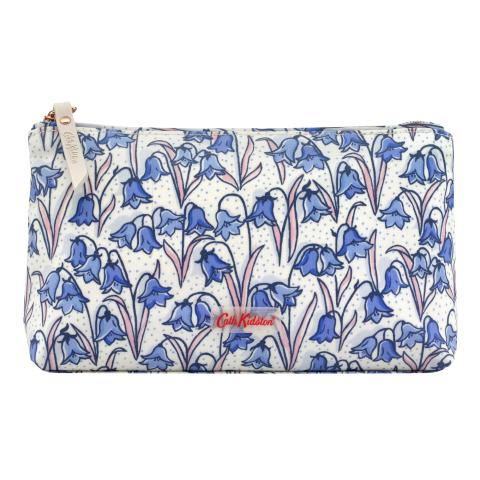 MATT ZIP MAKE UP BAG BLUEBELLS CREAM BLUE