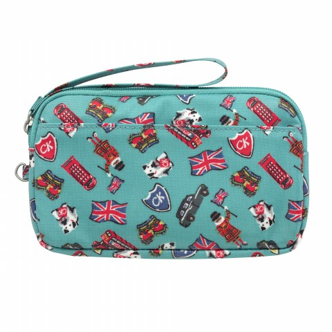 GADGET CASE LONDON STAMPS BRIGHT TEAL
