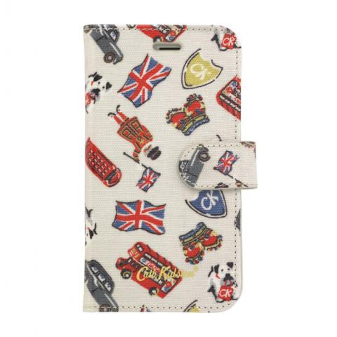 IPHONE 6 CASE W/CARD HOLDER LONDON STAMPS STONE