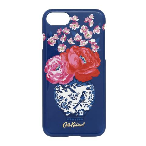 IPHONE 7 CASE BLOSSOM VASES SOFT NAVY