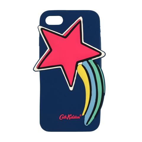 IPHONE 7 STAR SHAPED PHONE CASE GOOD LUCK CHARMS NAVY MULTI