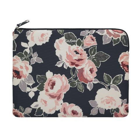 SLIM LAPTOP SLEEVE - 13 INCH PAPER ROSE GRAPHITE GREY