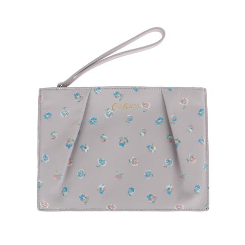LEATHER PRINTED POUCH MALLORY SPRIG SOFT LILAC
