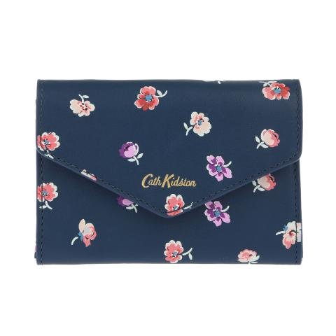 LEATHER PRINTED MINI PURSE MALLORY SPRIG NAVY