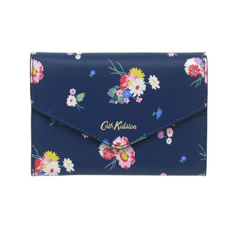 PRINTED LEATHER MINI PURSE BUSBY BUNCH NAVY