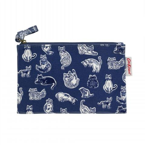 ZIP PURSE SQUIGGLE CATS
