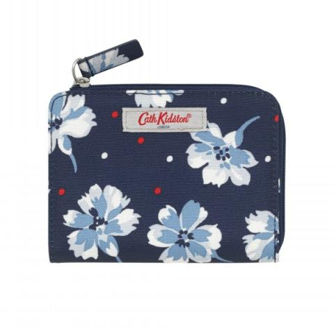 SLIM FOLDED PURSE WITH COIN SLOT FAIRFIELD FLOWERS