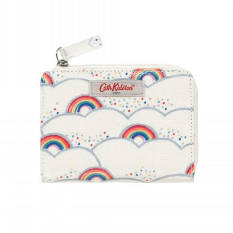 SLIM FOLDED PURSE WITH COIN SLOT LITTLE RAINBOWS