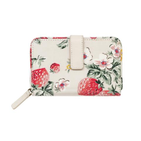 FOLDED ZIP WALLET WILD STRAWBERRY