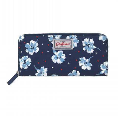 TRAVEL CONTINENTAL WALLET FAIRFIELD FLOWERS
