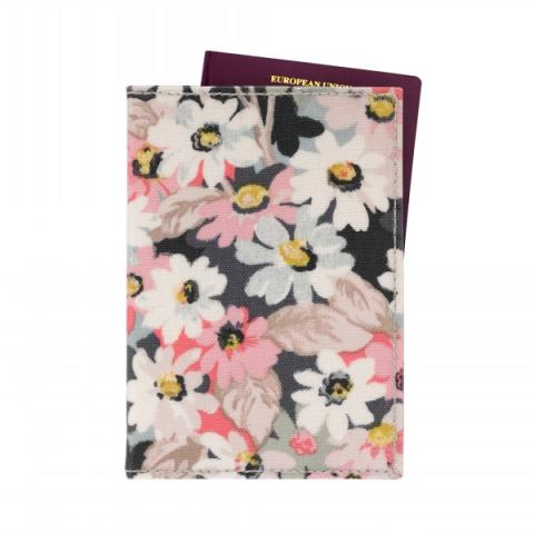PASSPORT HOLDER MINI PAINTED DAISY