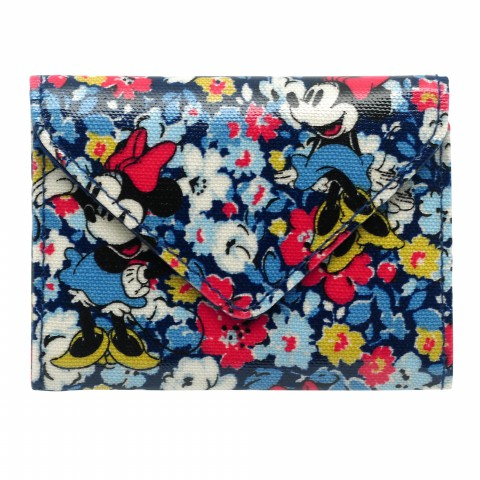 DISNEY ENVELOPE CARD HOLDER MINNIE MEWS DITSY BLUE