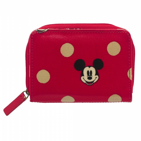 DISNEY POCKET PURSE MINNIE & MICKEY SPOT RED