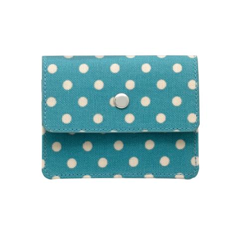 EXPANDING CARD HOLDER LITTLE SPOT SOFT TEAL