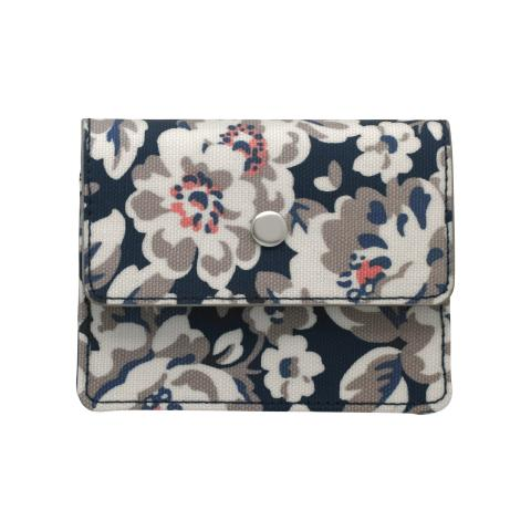EXPANDING CARD HOLDER ELVINGTON ROSE NAVY