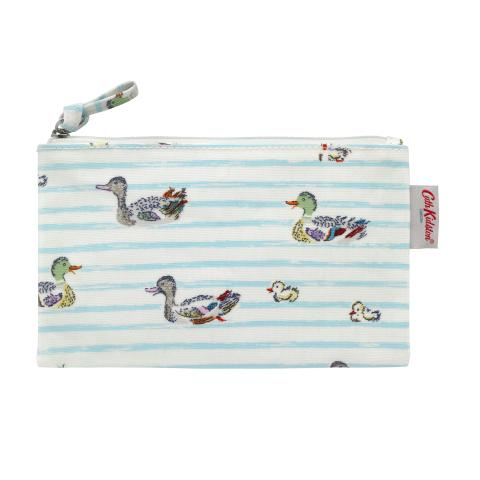 ZIP PURSE DUCKS IN A ROW TRUE BLUE
