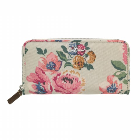 CONTINENTAL ZIP WALLET WINDFLOWER BUNCH STONE