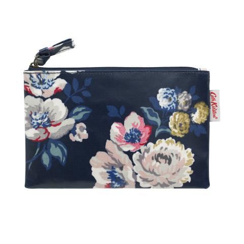 ZIP PURSE WINDFLOWER BUNCH NAVY