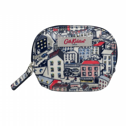 CURVED COIN PURSE LITTLE VILLAGE NAVY MULTI