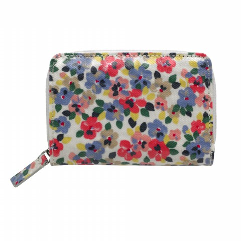 POCKET PURSE PAINTED PANSIES PINK MULTI