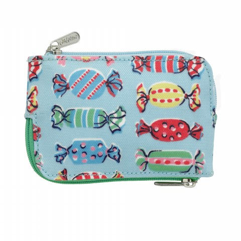 MULTI ZIP PURSE SWEETS DUSTY BLUE