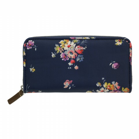 CONTINENTAL ZIP WALLET MALLORY BUNCH NAVY