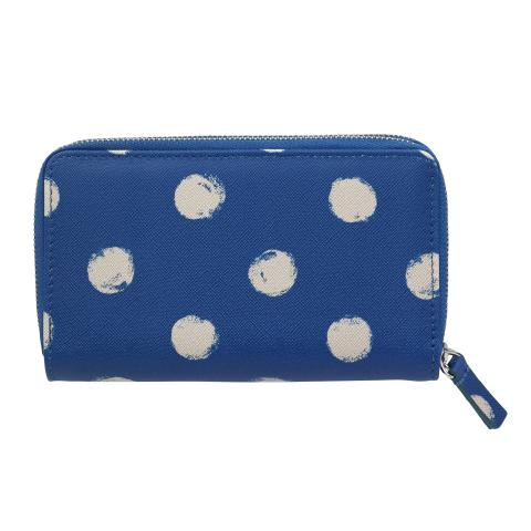DOUBLE ZIP PURSE SMUDGE SPOT MARINE